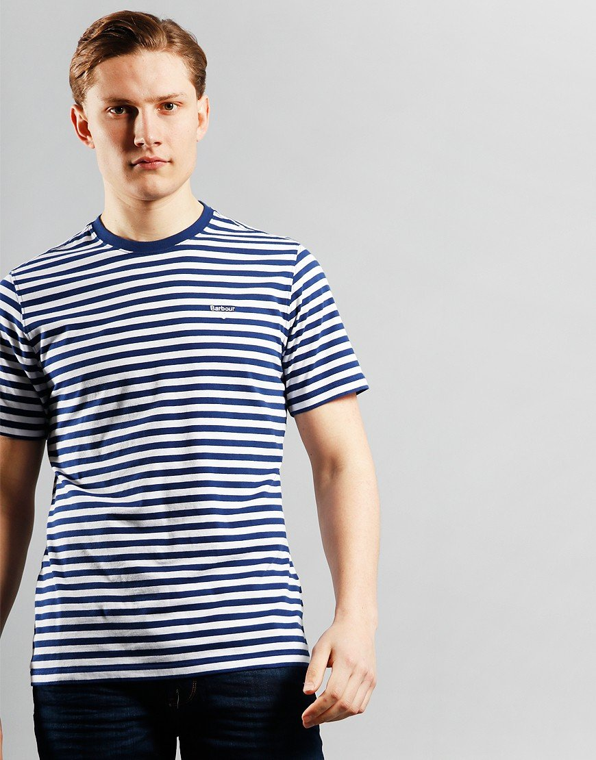 Barbour Delamere Stripe T-Shirt Inky Blue