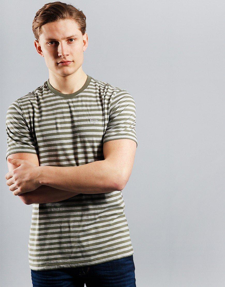 Barbour Delamere Stripe T-Shirt Burnt Olive