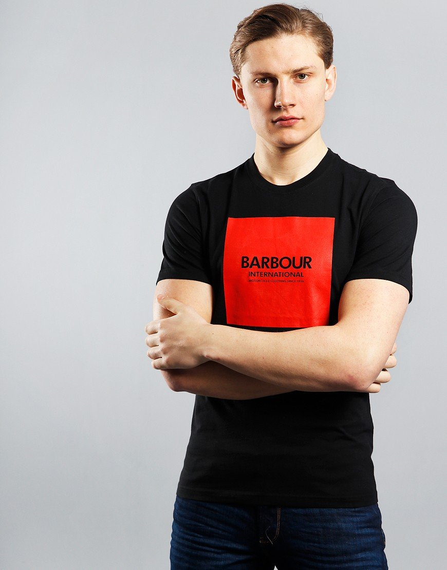 Barbour International Block T-Shirt Black