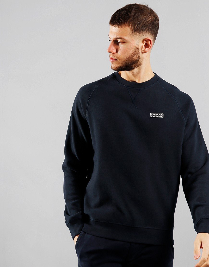 Barbour International Essential Crew Sweat International Navy