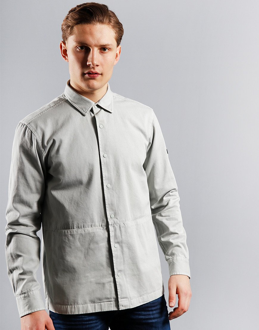 Barbour International Endo Overshirt Light Grey