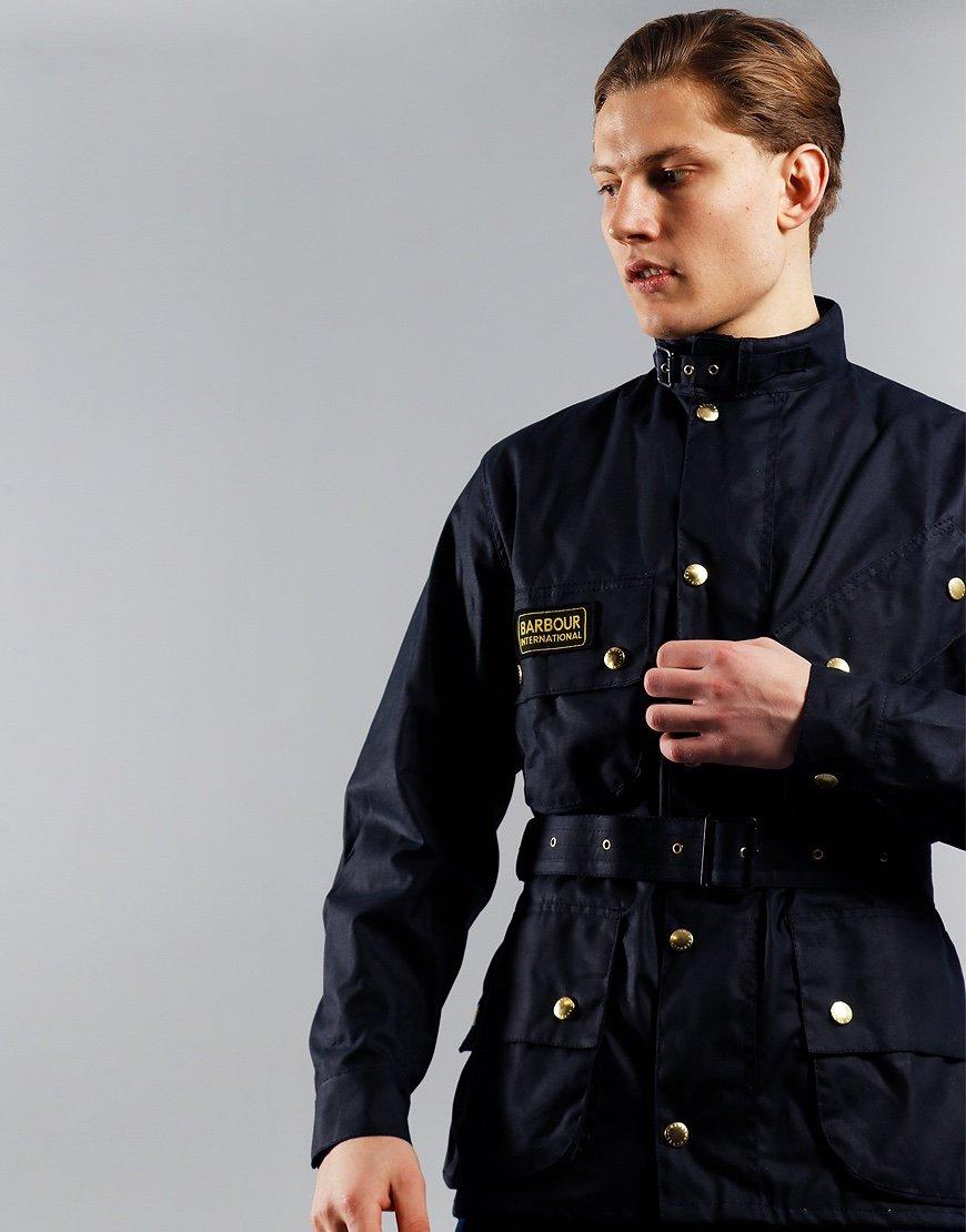 Barbour International Original Wax Jacket Navy