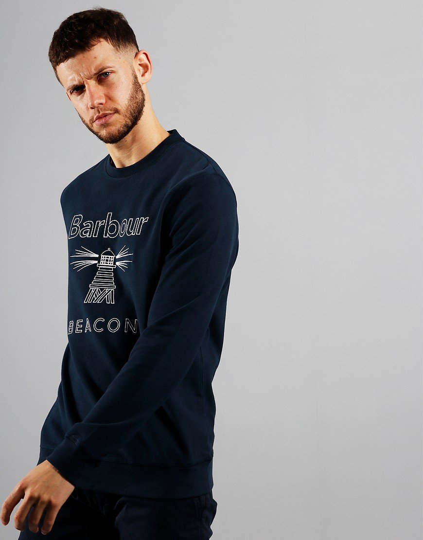 Barbour Beacon Stitch Crew Sweat New Navy