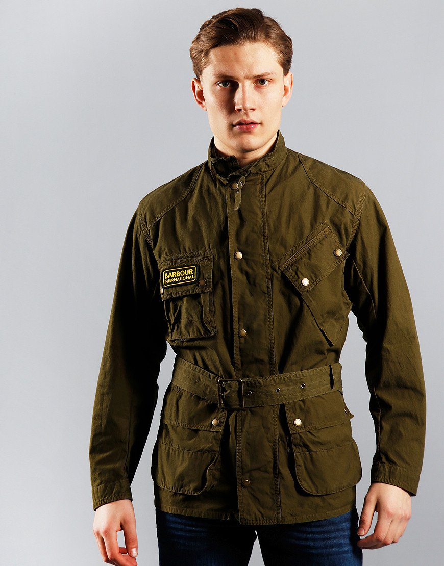 Barbour International Summer Wash A7 Casual Jacket Green
