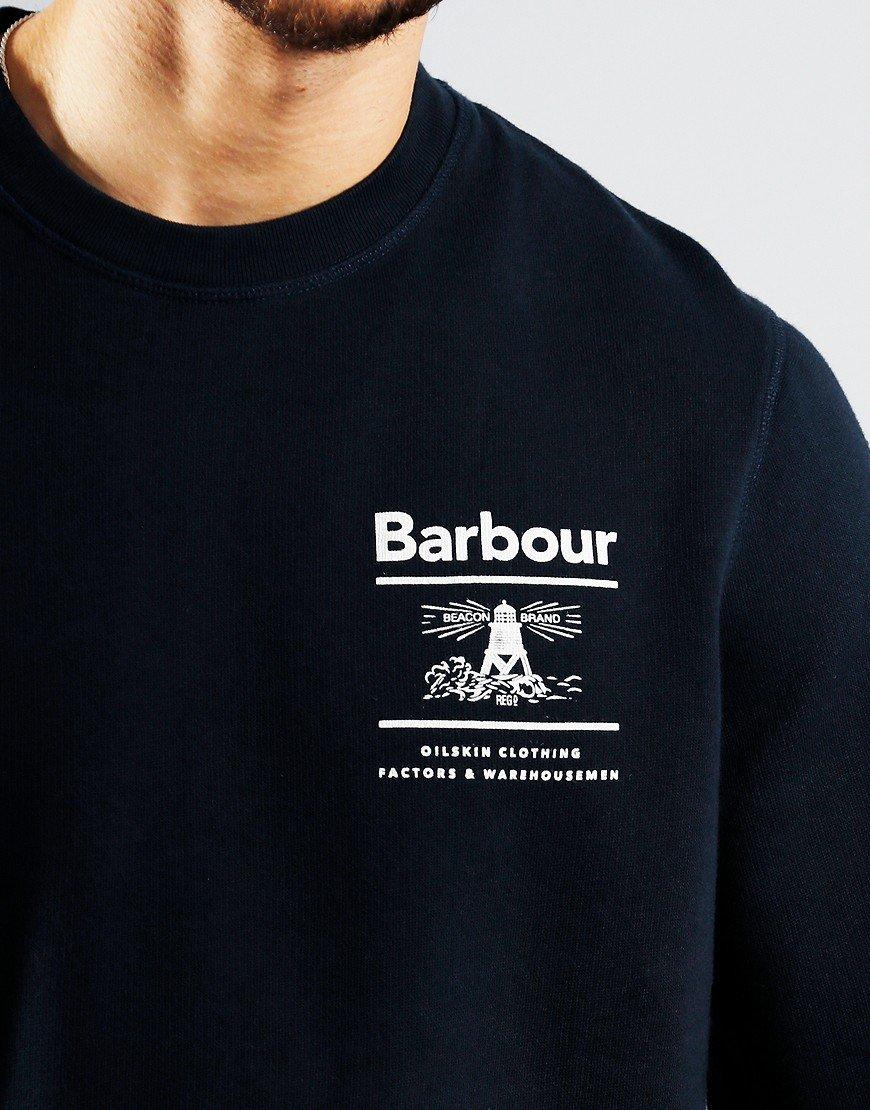 Barbour Reed Crew Sweat Navy