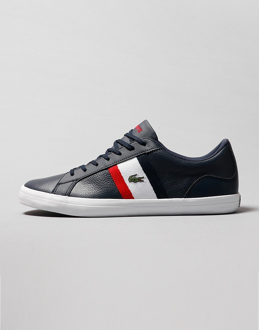 Lacoste Lerond 1 Trainers Navy/White/Red