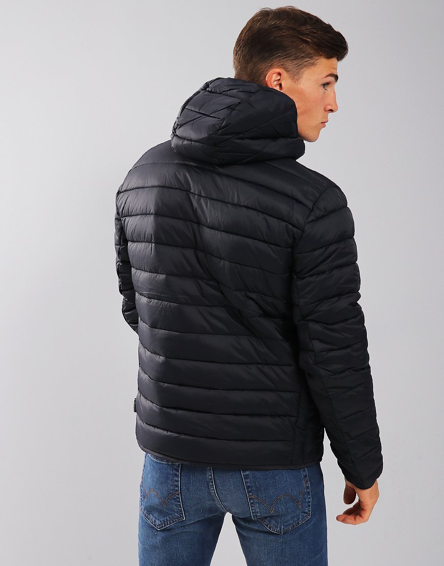 Barbour International Ouston Hooded Quilt Jacket  Navy
