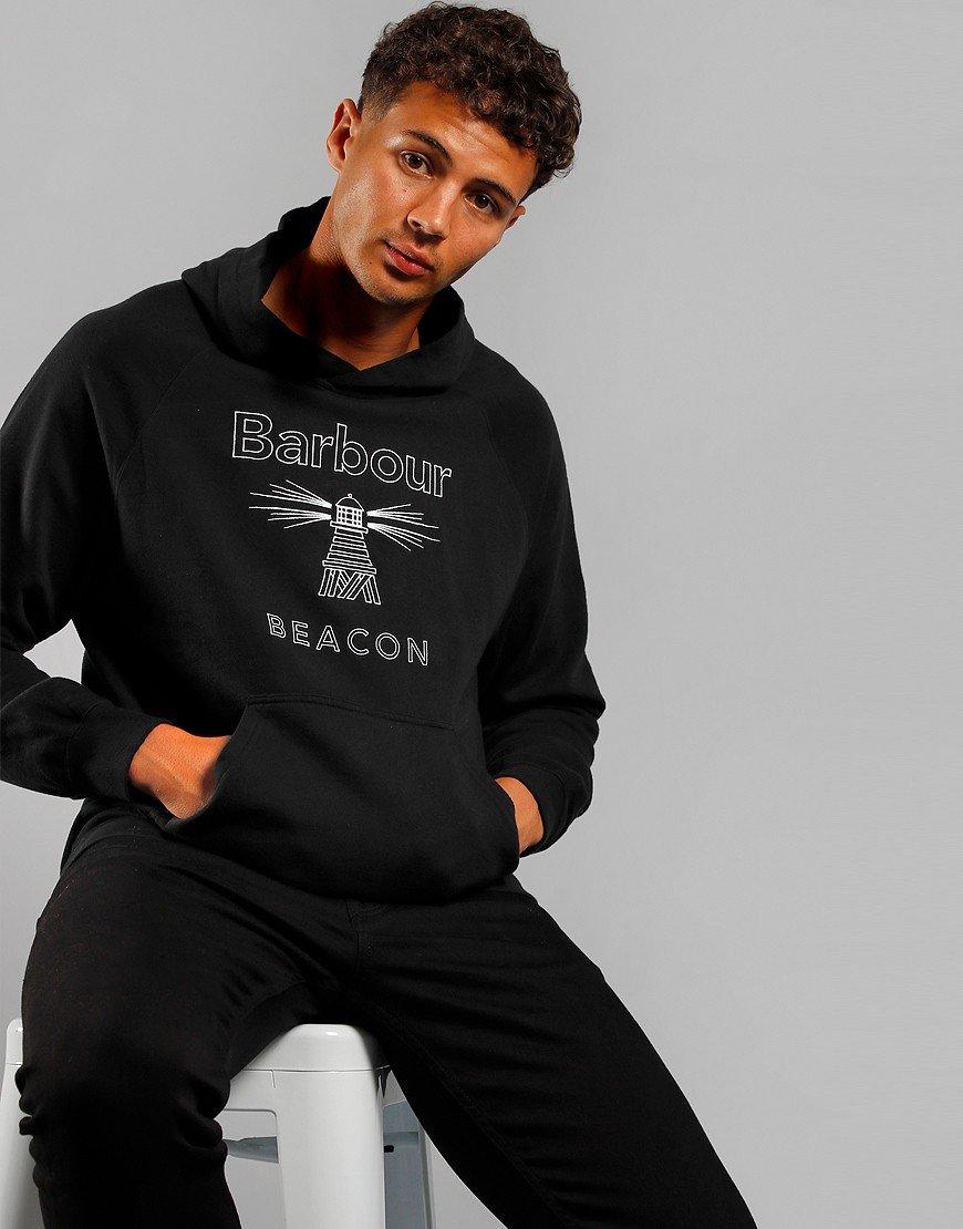 Barbour Beacon Stitch Hoodie Black