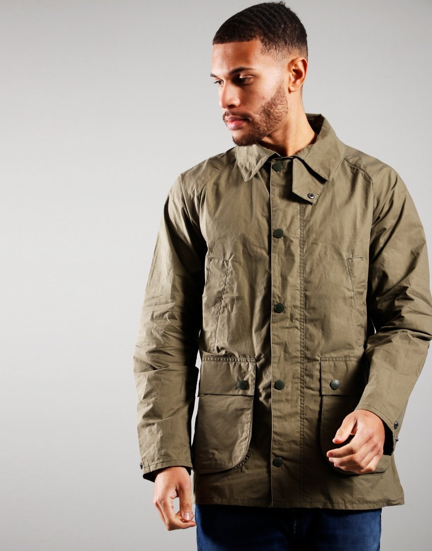 Barbour Slim Unlined Bedale Casual Jacket Olive