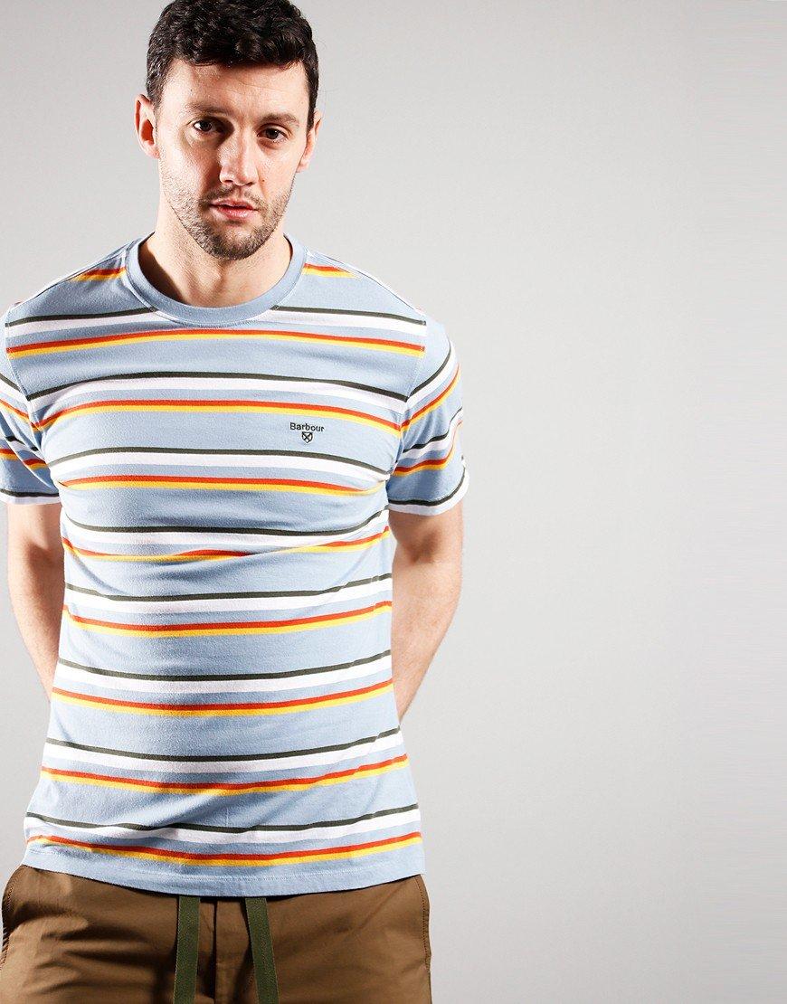 Barbour River T-Shirt Powder Blue