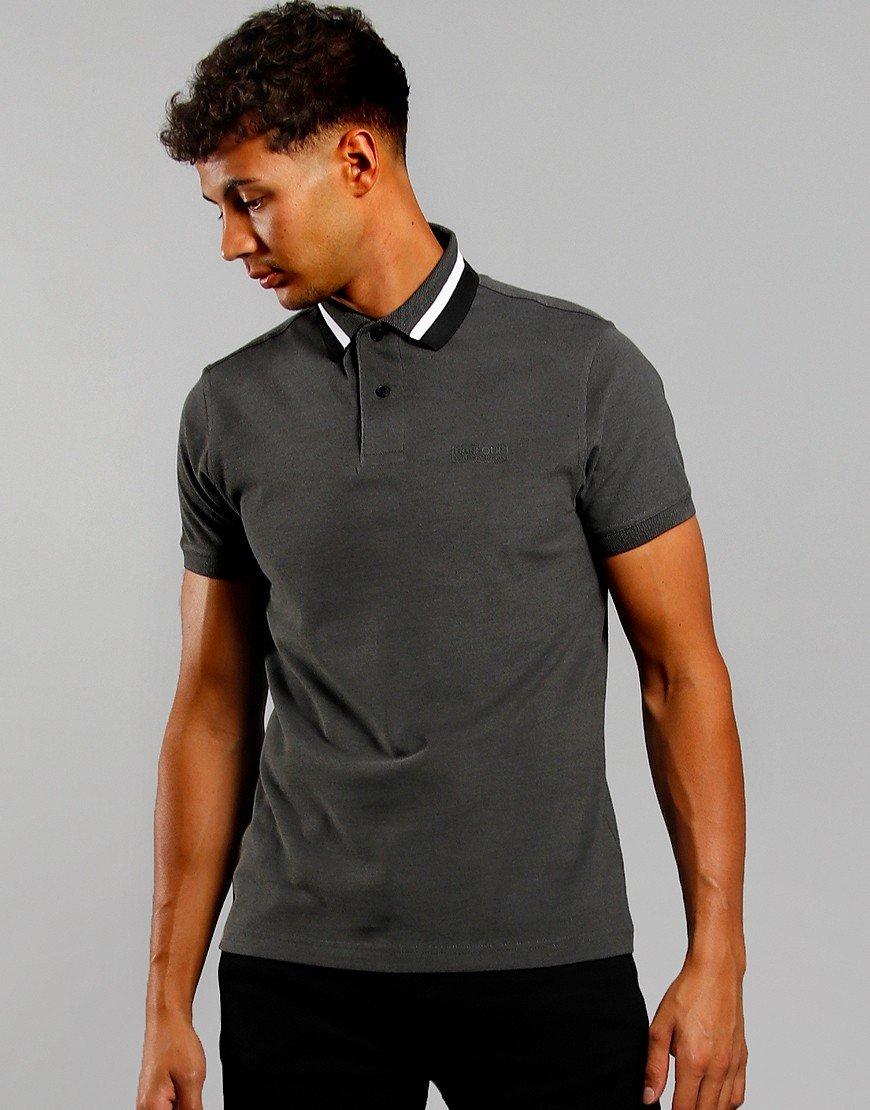 Barbour International Diode Polo Shirt Gargoyle