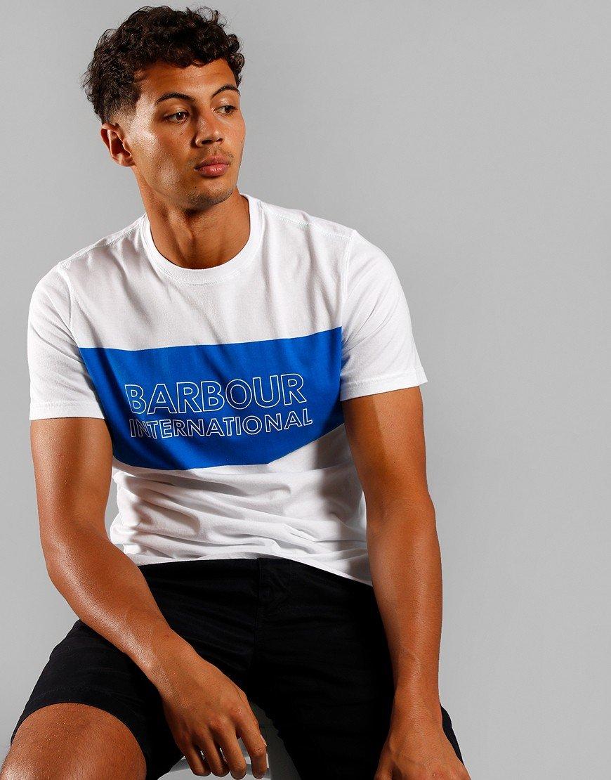 Barbour International Panel Logo T-Shirt White