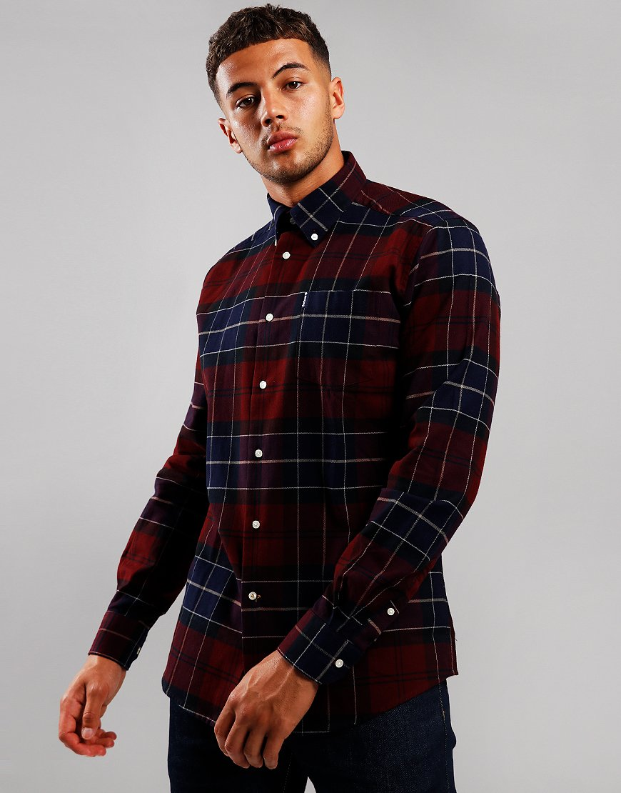 Barbour Lustleigh Long Sleeve Shirt Merlot