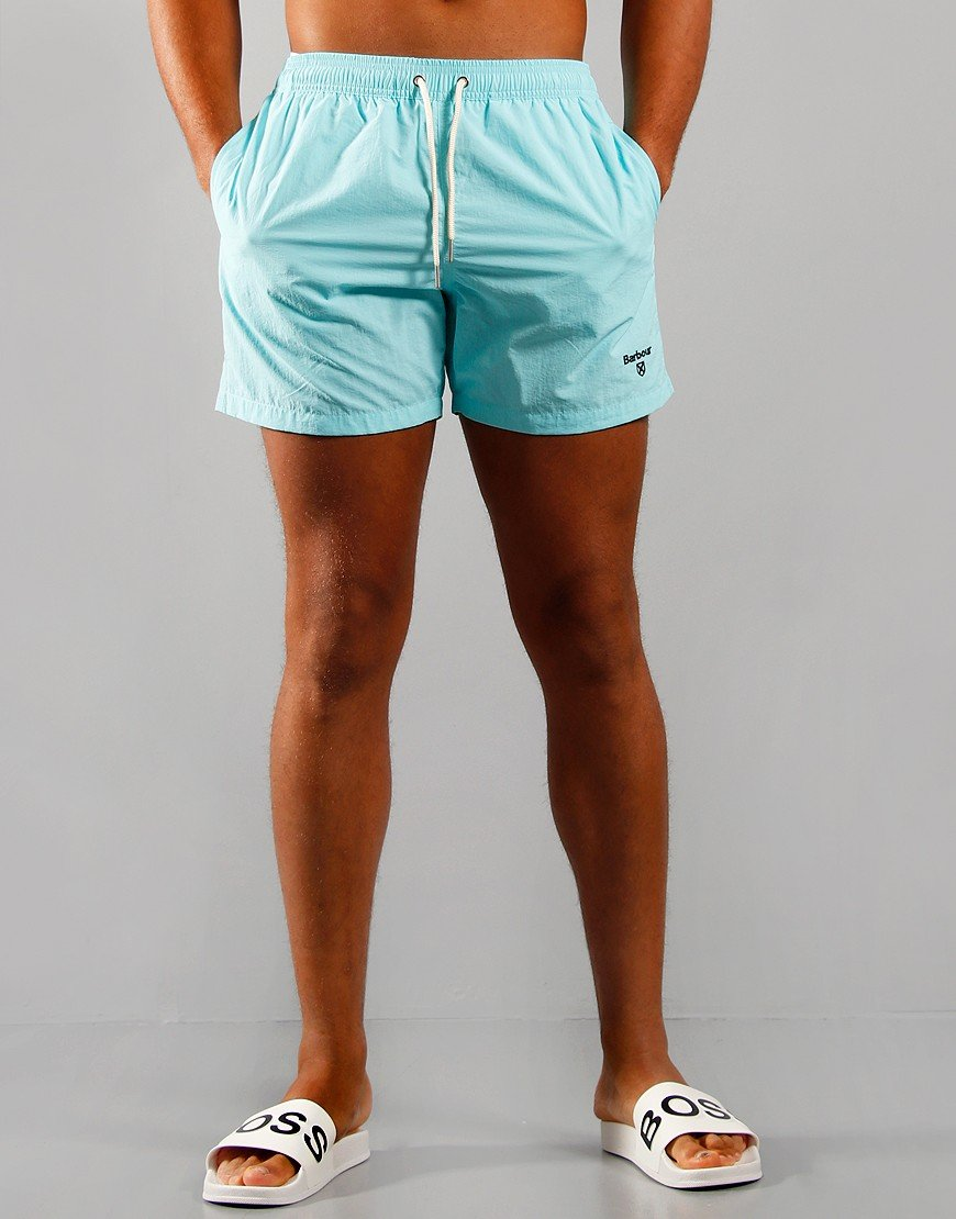 "Barbour 5"" Swim Shorts Aqua Marine"