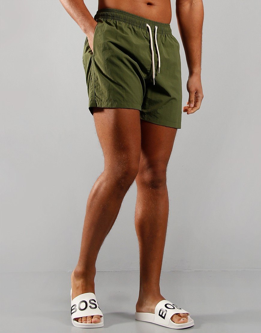 "Barbour 5"" Swim Shorts Olive"