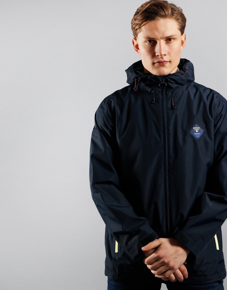 Barbour Beacon Mound Waterproof Jacket Royal Navy