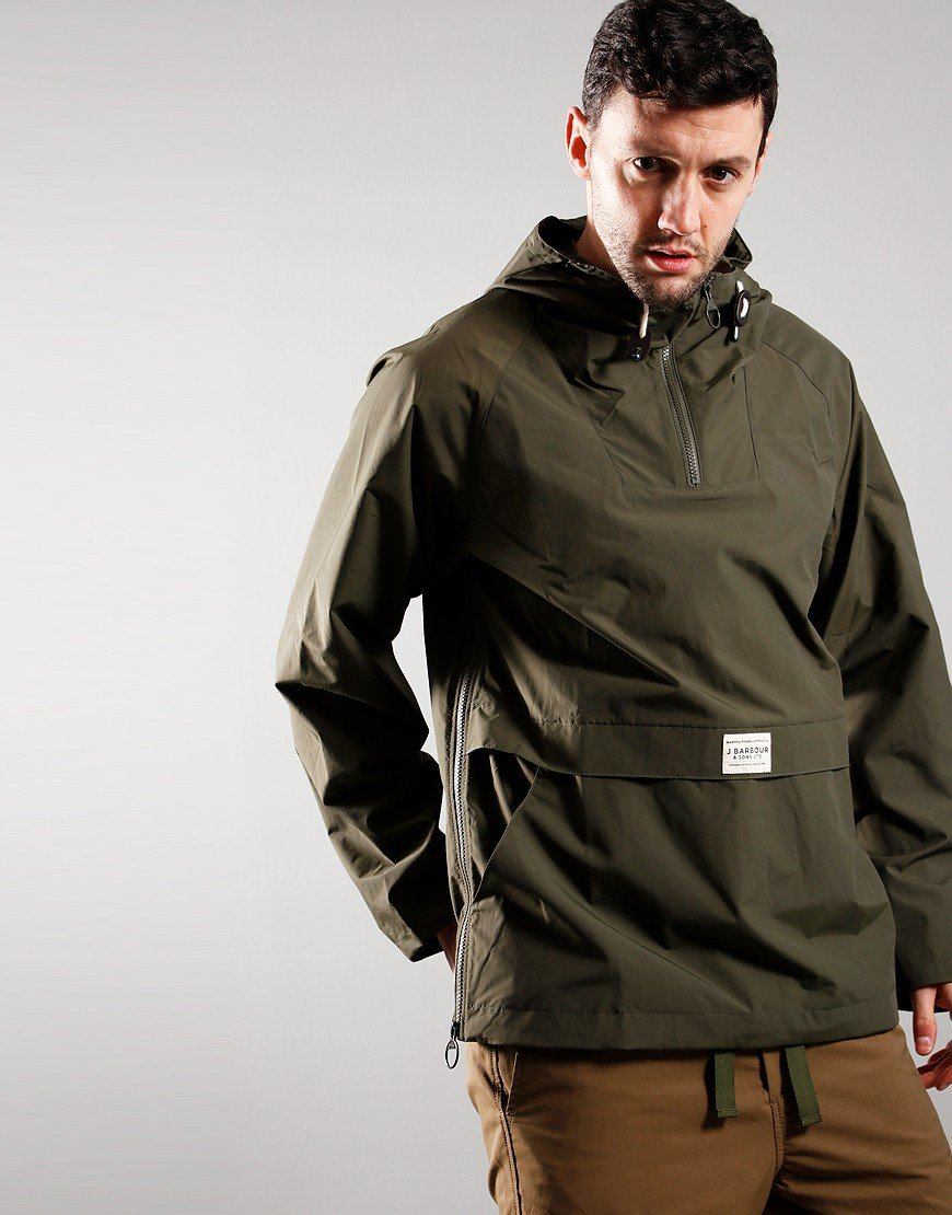Barbour Alnot Overhead Hooded Jacket Mid Olive
