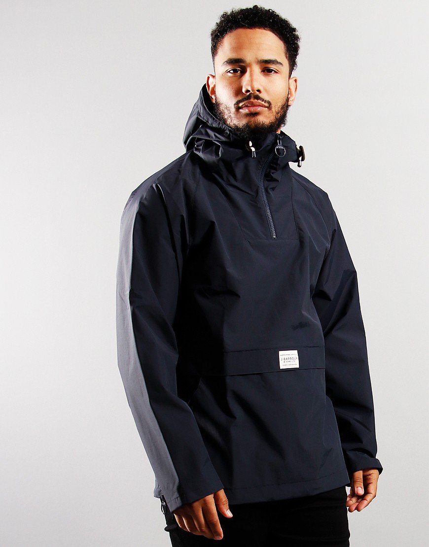 Barbour Alnot Overhead Hooded Jacket Navy