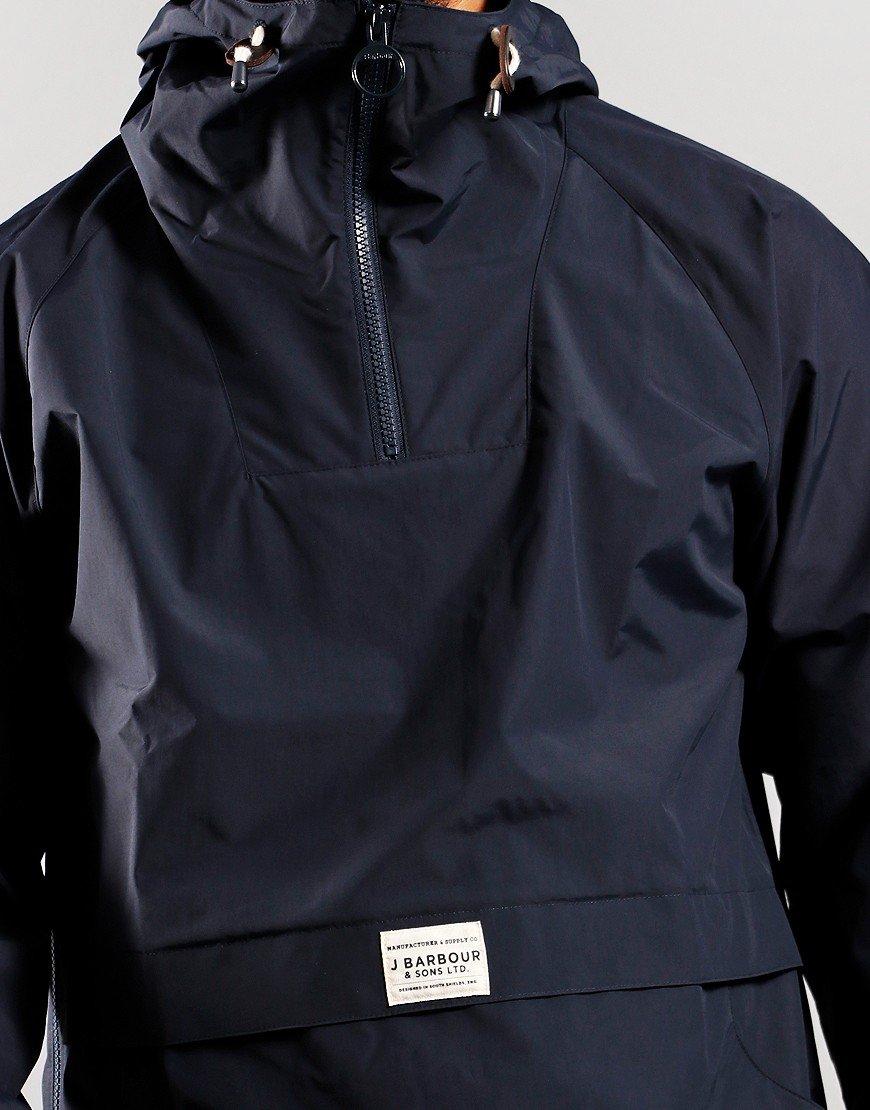 Barbour Alnot Overhead Hooded Jacket Navy