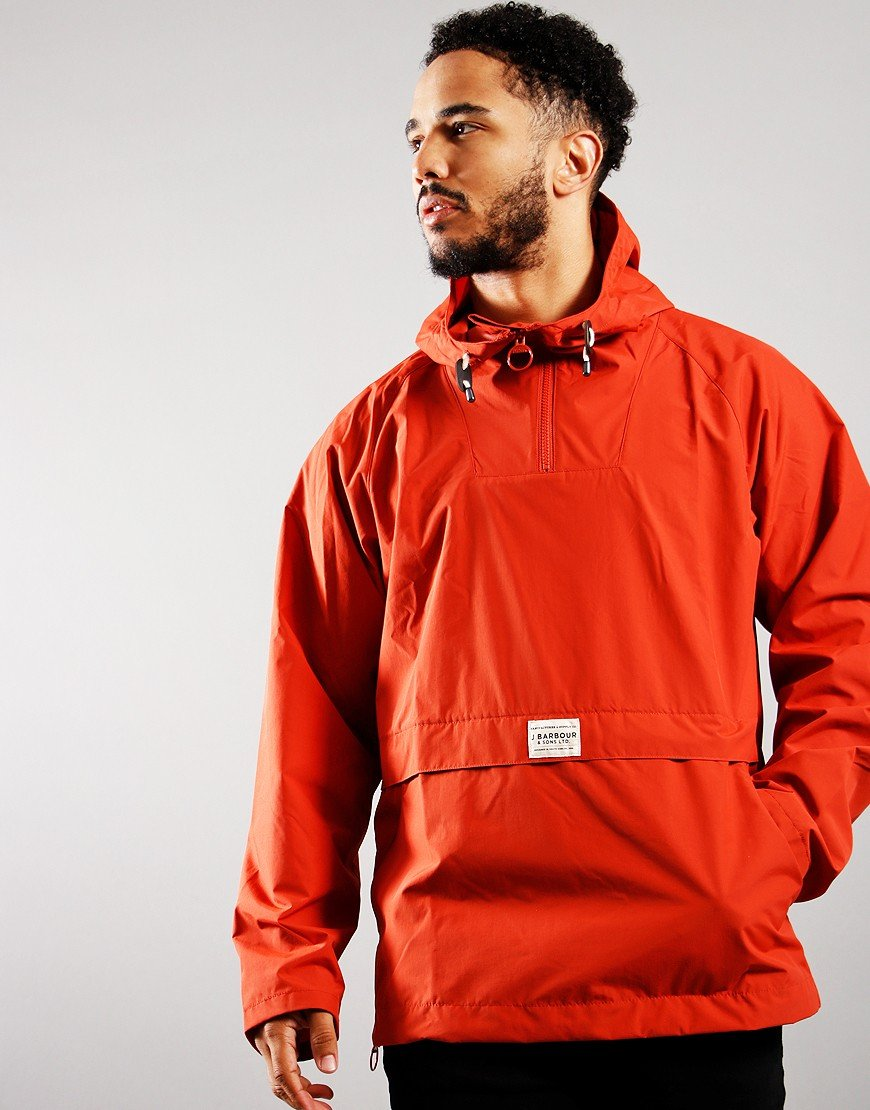 Barbour Alnot Overhead Hooded Jacket Sunset