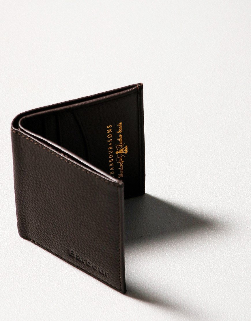 Barbour Amble Leather Wallet Dark Brown