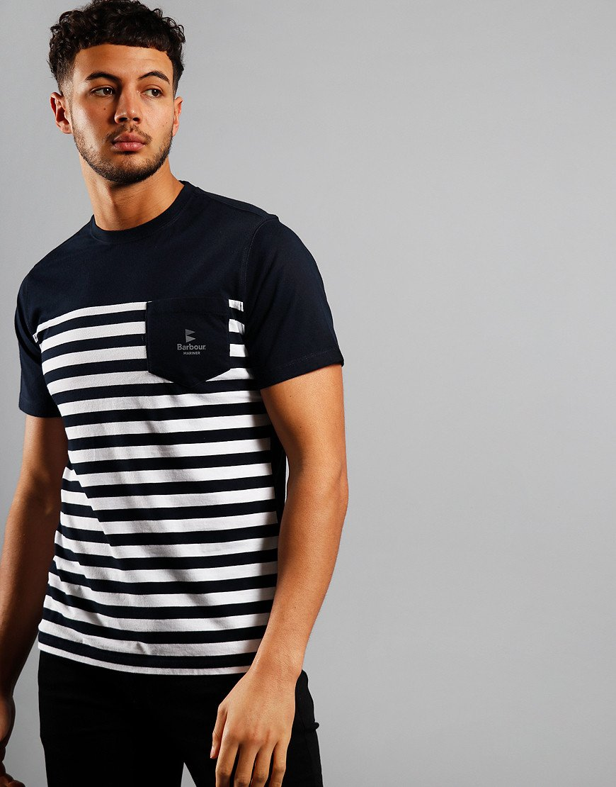 Barbour Ammon Stripe T-Shirt Navy