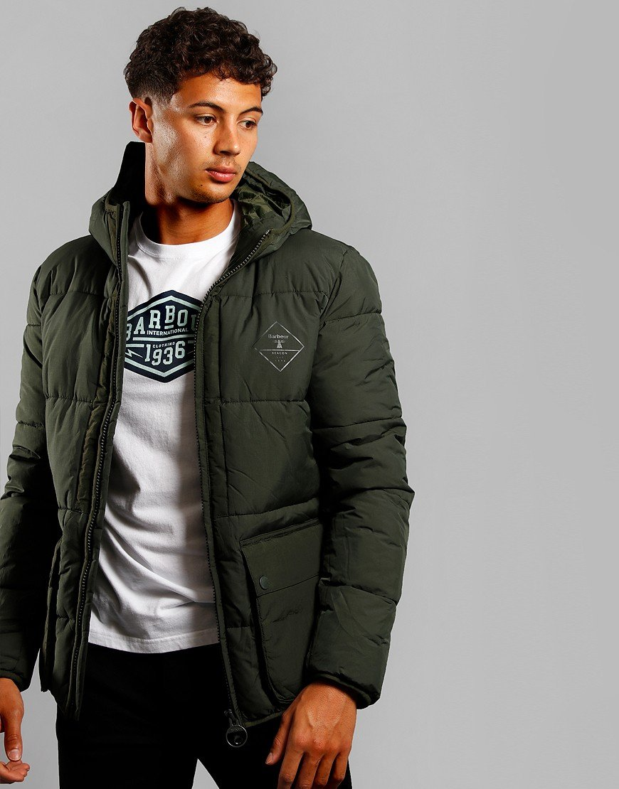 Barbour Beacon Ansah Quilt Jacket Sage