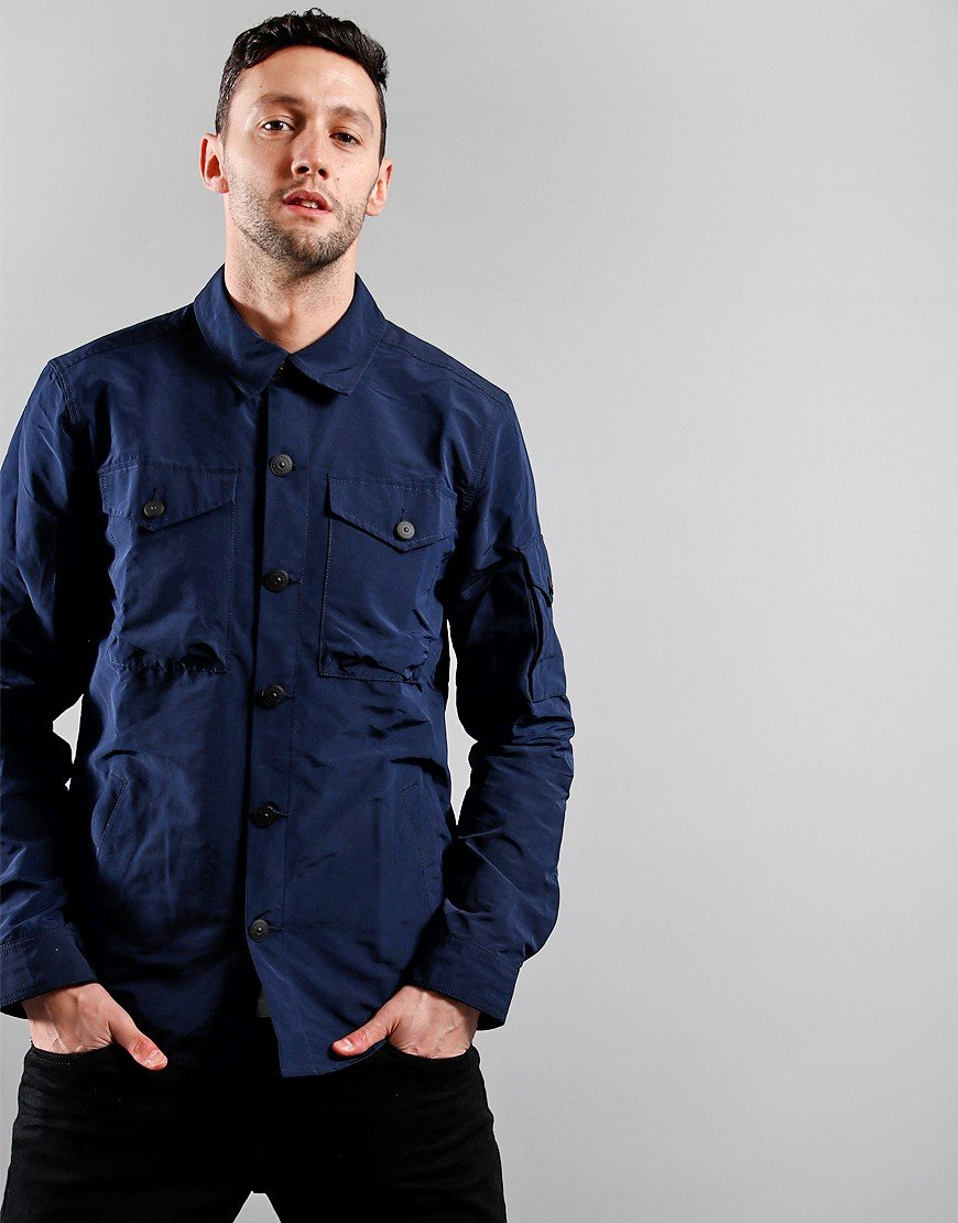 Barbour Beacon Askern Overshirt Navy