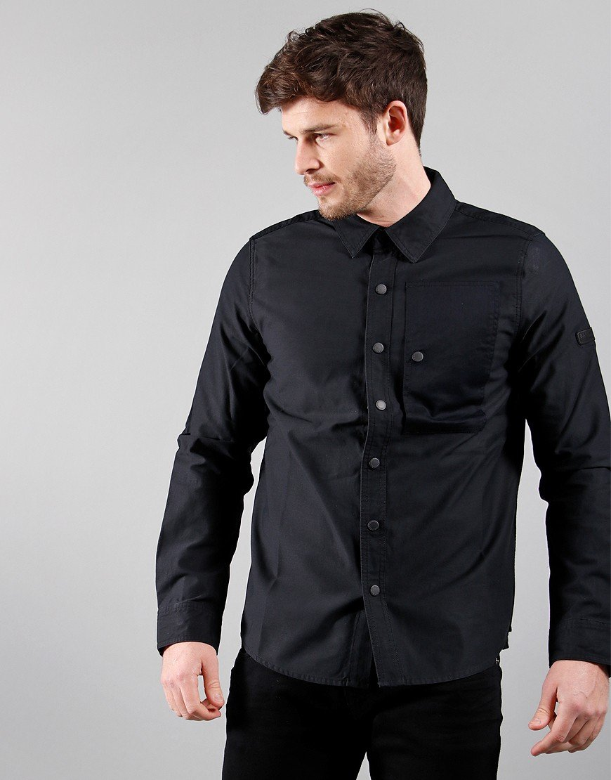 Barbour International Asset Overshirt Black