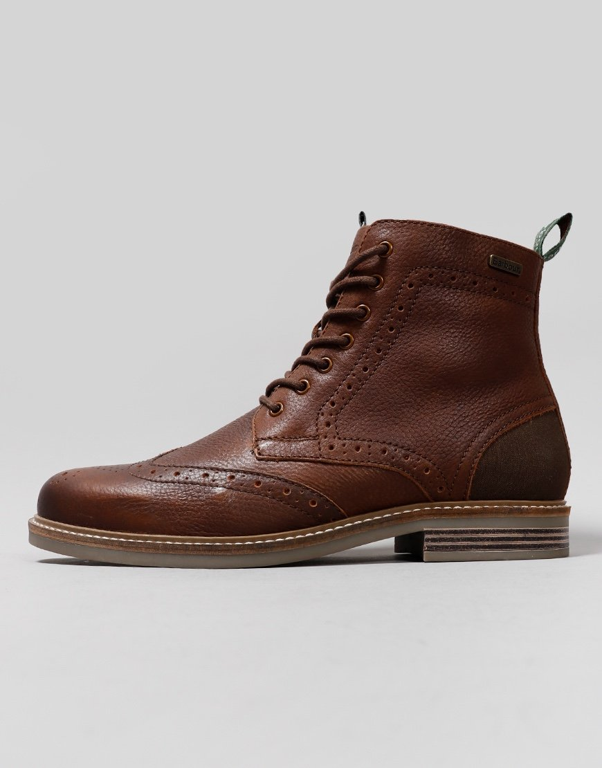 Barbour Belsay Boots Dark Brown