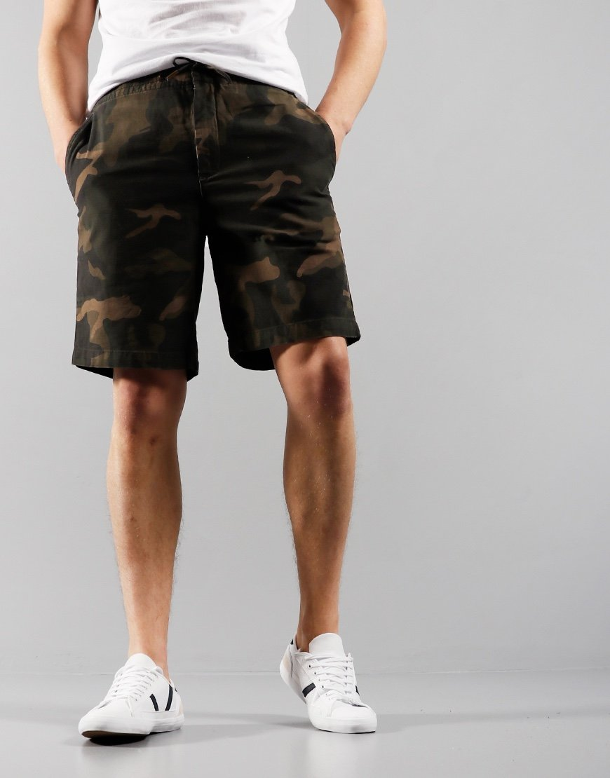Barbour Bay Ripstop Shorts Camo Olive