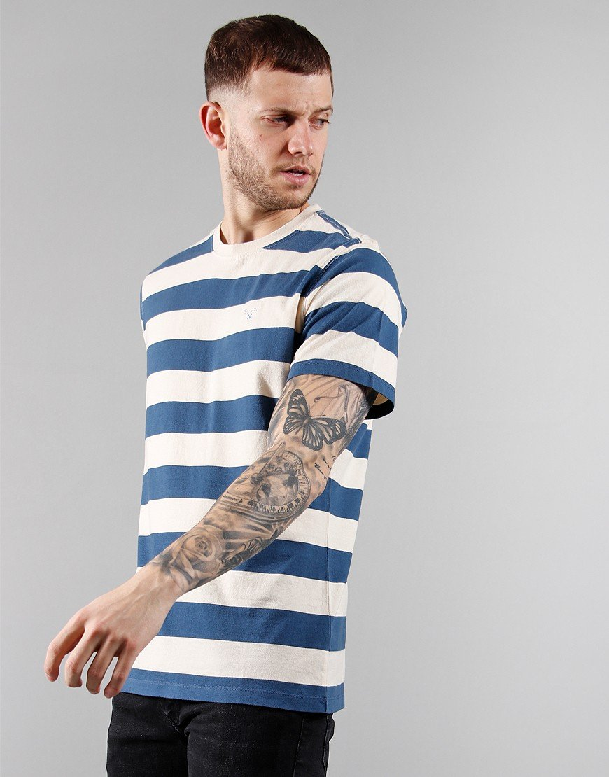 Barbour Beach Stripe T-Shirt Chalk