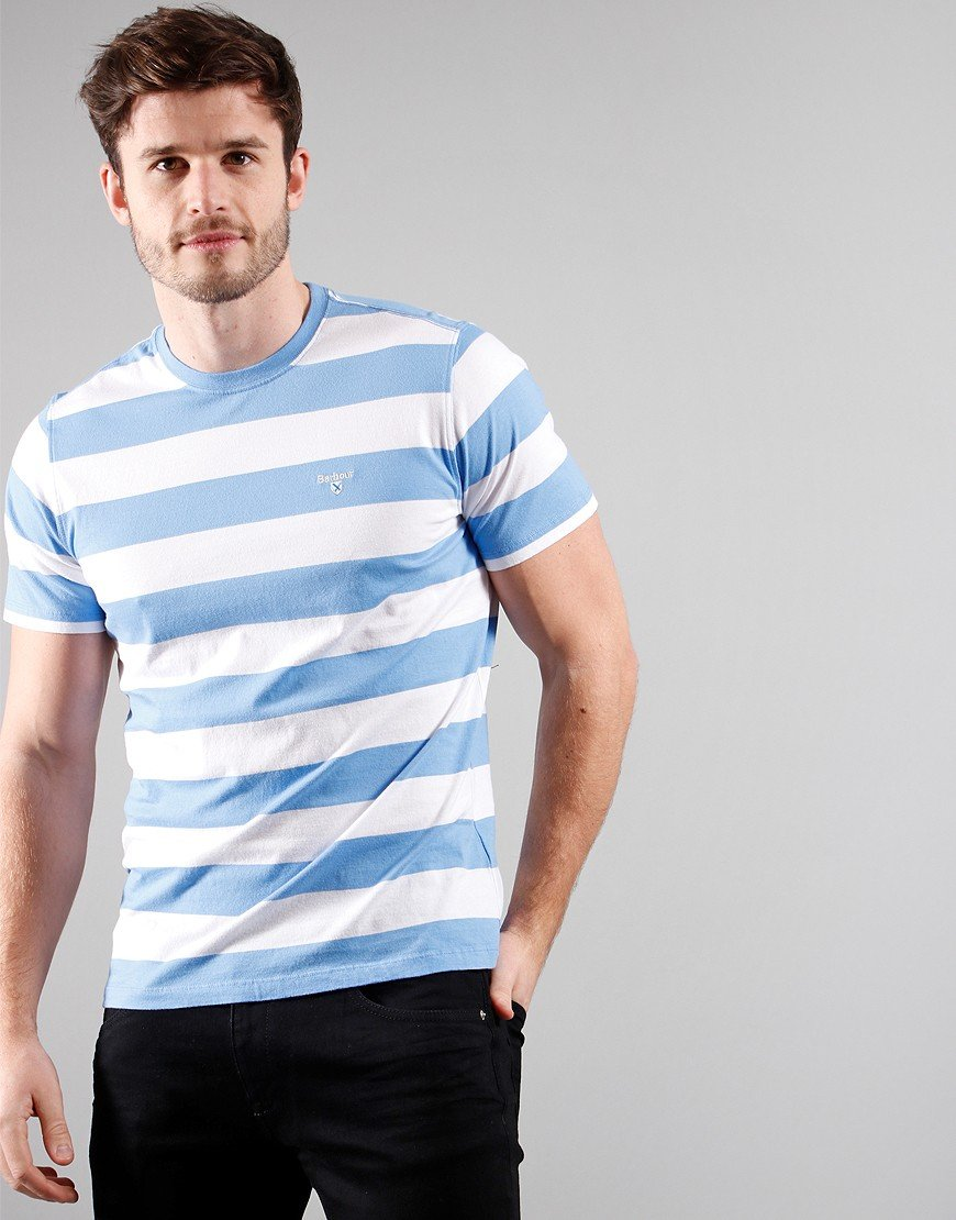 Barbour Beach Stripe T-Shirt Colarado Blue