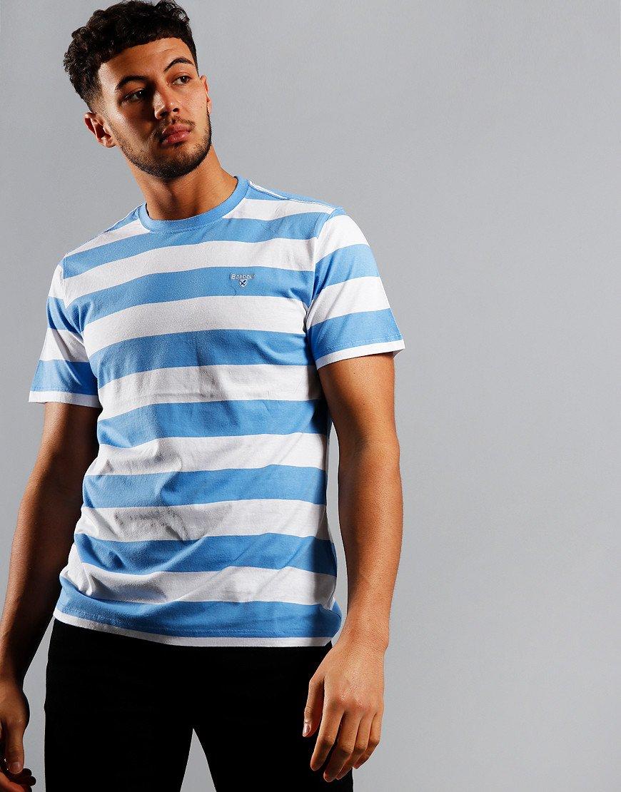 Barbour Beach Stripe T-Shirt Colorado Blue