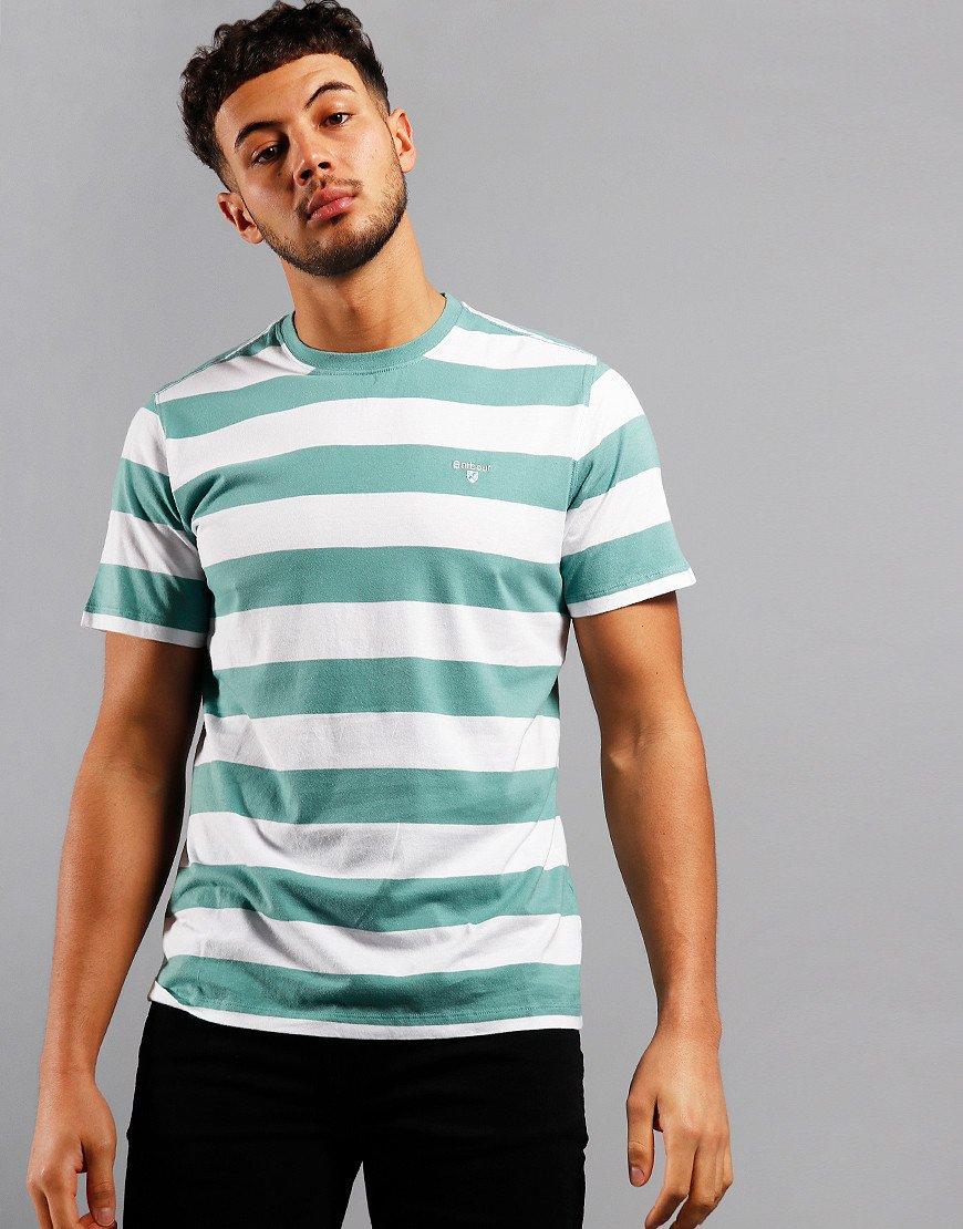 Barbour Beach Stripe T-Shirt Nevada Green
