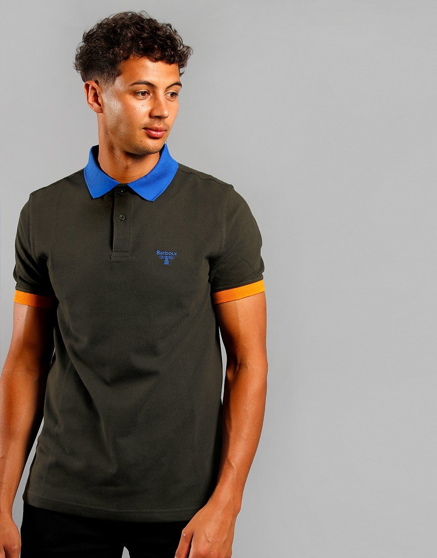 Barbour Beacon Abbey Polo Shirt Forest Green