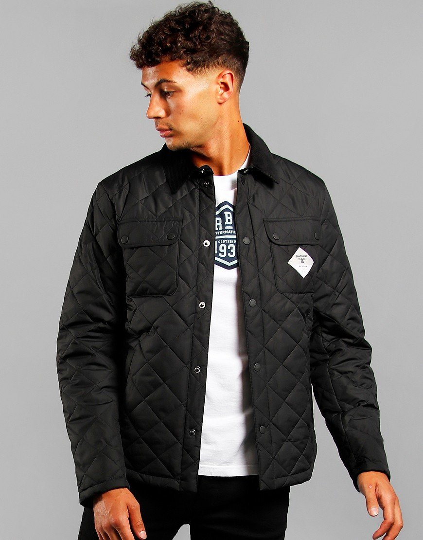 Barbour Beacon Aken Quilt Jacket Black