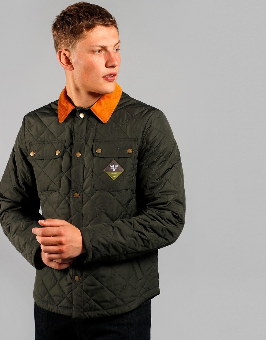 Barbour Beacon Aken Quilt Jacket Sage