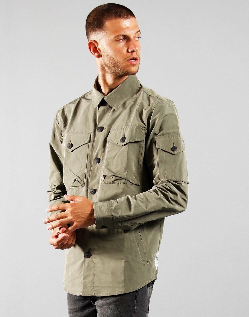 Barbour Beacon Askern Overshirt Dust Olive