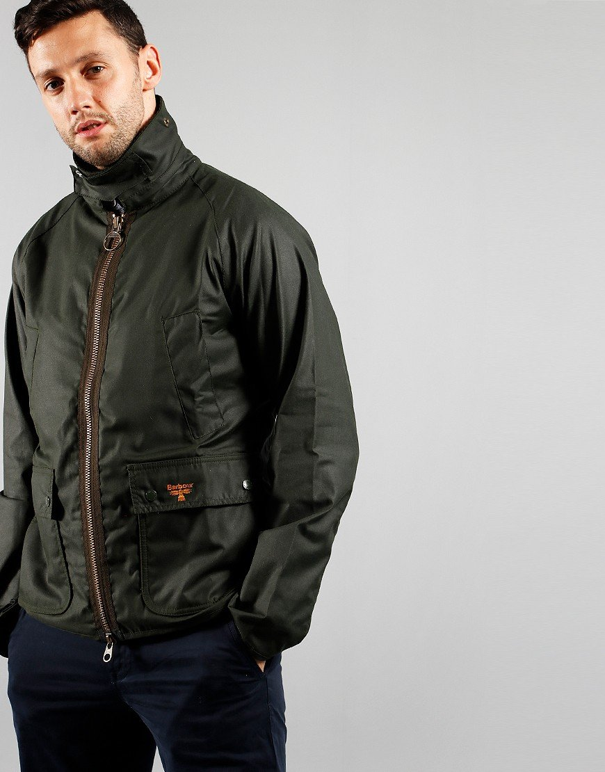 Barbour Beacon Bedale Wax Jacket Sage
