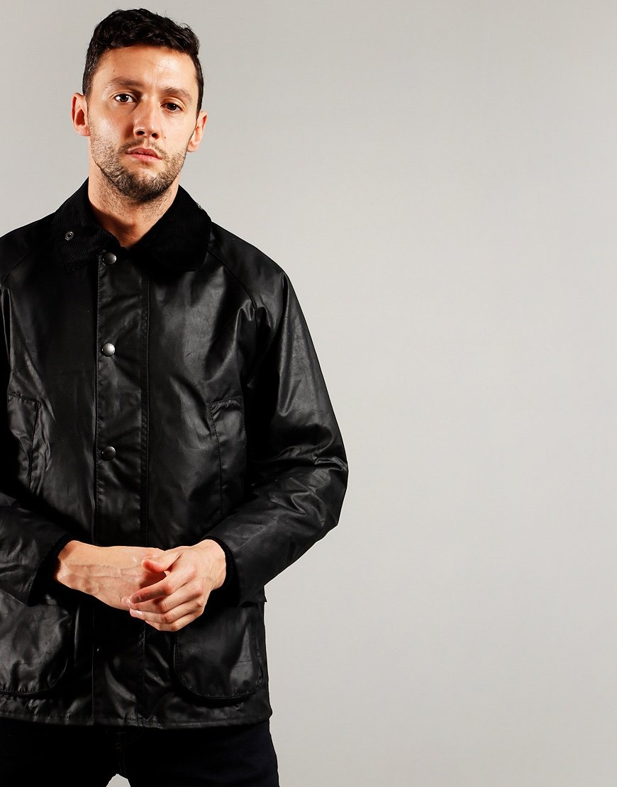 Barbour Beacon Bedale Wax Jacket Black