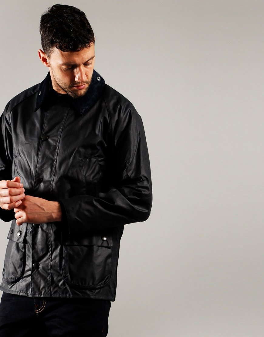 Barbour Bedale Wax Jacket Navy