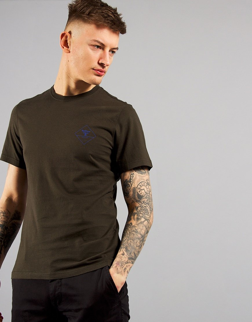 Barbour Beacon Box Logo T-Shirt Forest