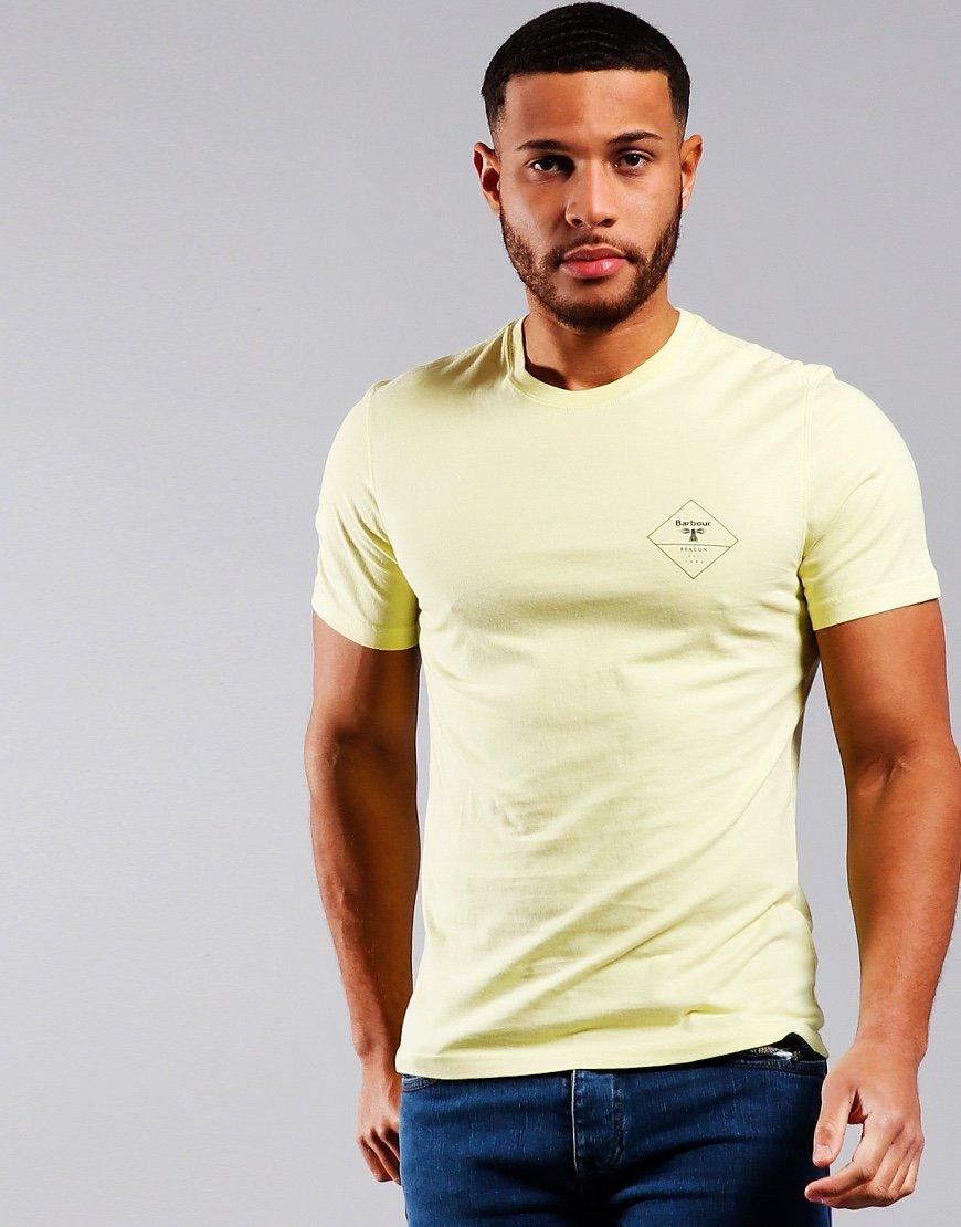 Barbour Beacon Box Logo T-Shirt Pale Lemon