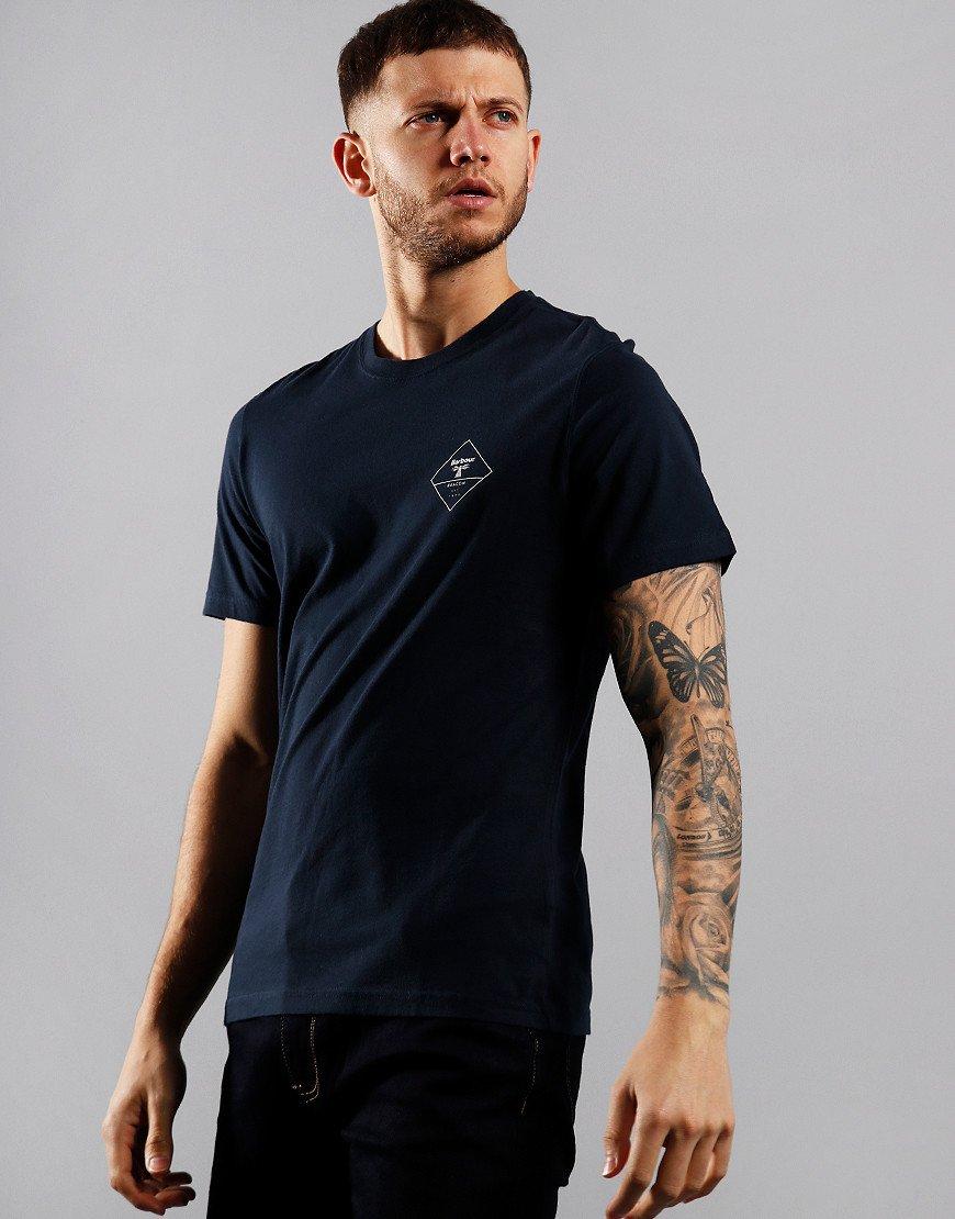 Barbour Beacon Box Logo T-Shirt Navy
