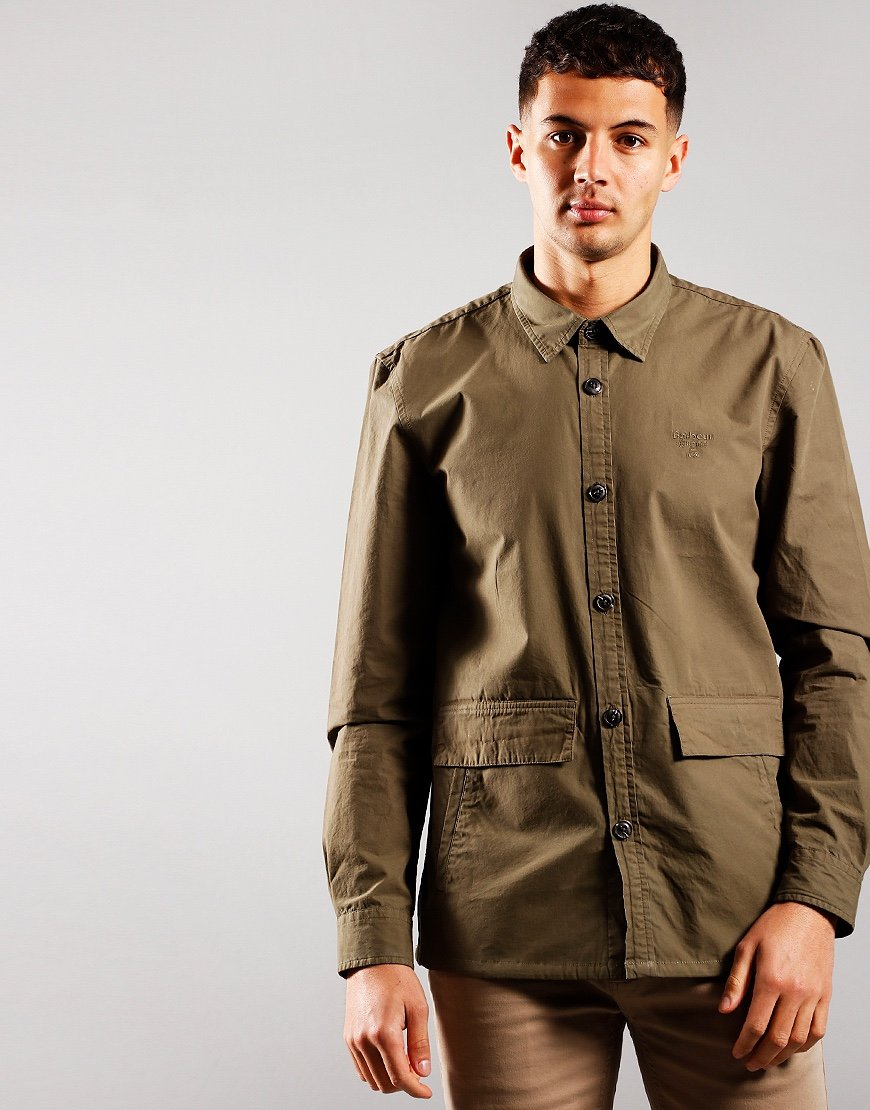 Barbour Beacon Castle Overshirt Olive