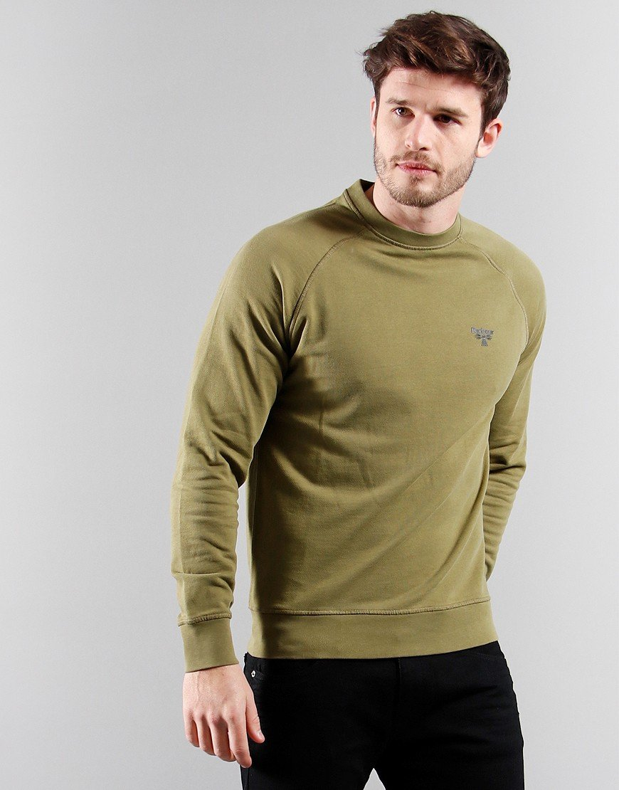 Barbour Beacon Crew sweat Military Olive