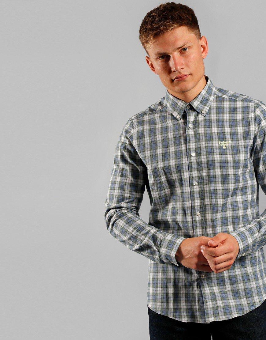 Barbour Beacon Cuthbert Shirt Mid Blue