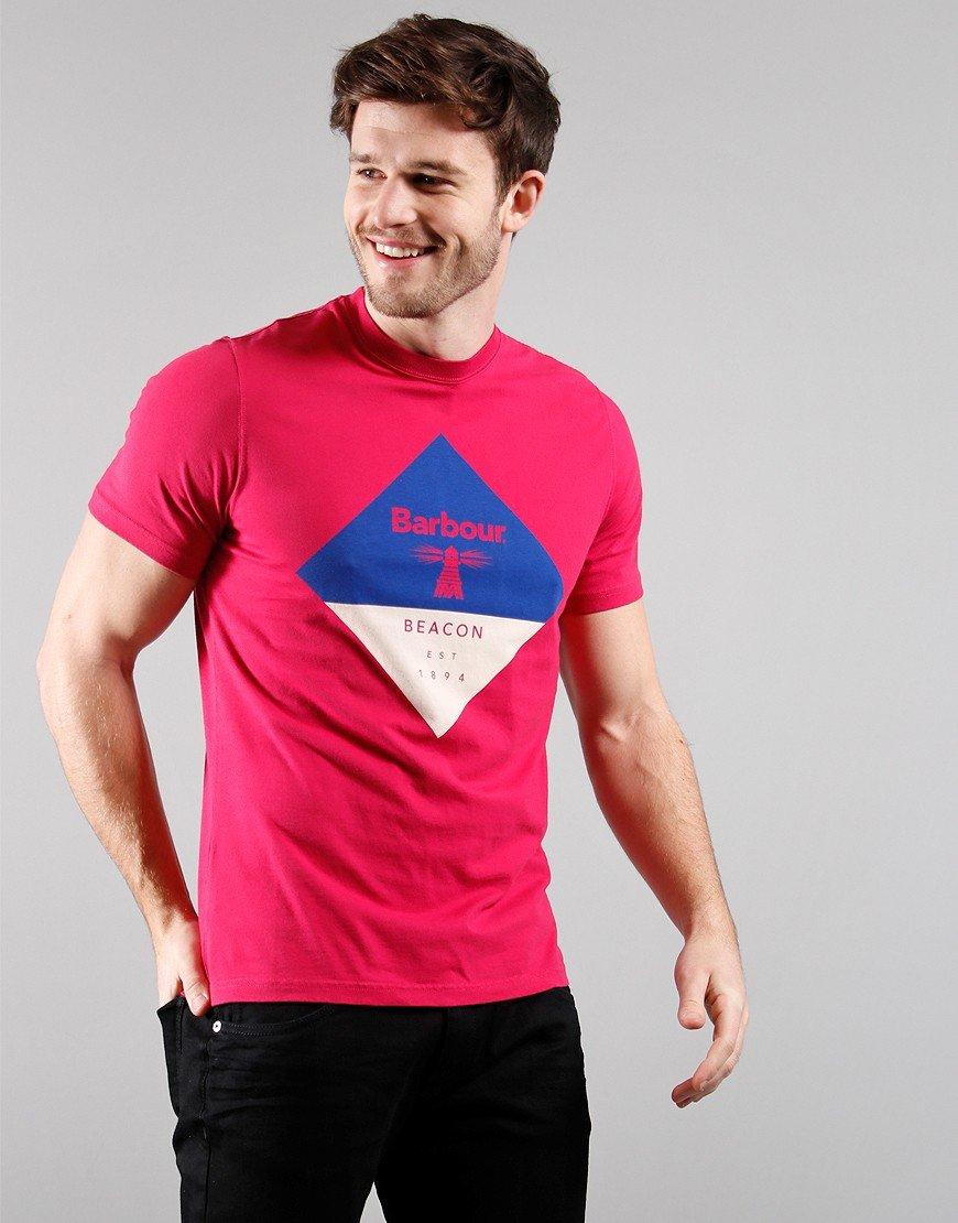 Barbour Beacon Diamond T-Shirt Cerise