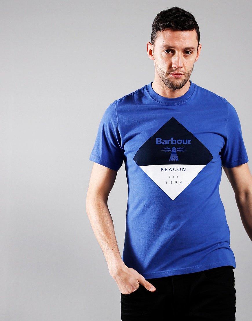 Barbour Beacon Diamond T-Shirt Atlantic Blue